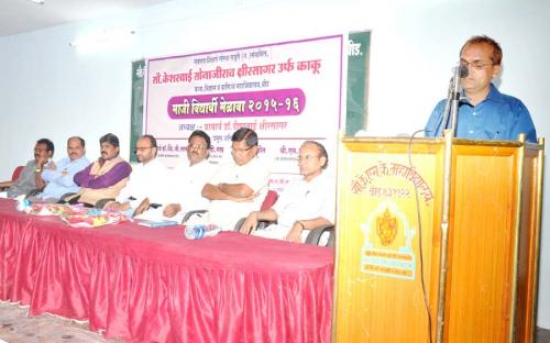 Dr. P.B. Sirsat Expressing his Views on Occasion Alumni Meet-2015
