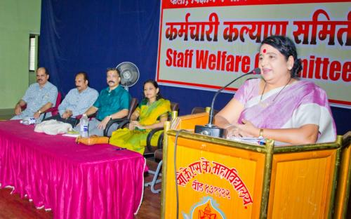 Employees Welfare Committee Program Dr. Deep Kshirsagar Give to Speech